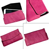I-KitPit Quality PU Leather Pouch Case With Magnet Closure For Videocon A48 (PINK)