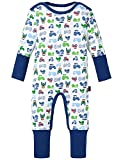 Schiesser Baby - Jungen Zweiteiliger Schlafanzug Baby Anzug mit Vario, Gr. 86, Weiß (weiss 100)