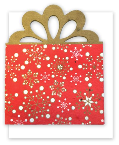 Grow A Note® Holiday Red Present Gift Card Holder 4-Pack