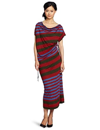 Vivienne Westwood Anglomania Women's Drawstring Maxi Dress, Green/Red/Blue, X-Small