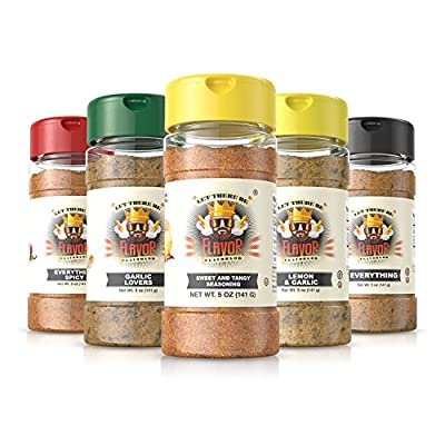 #1 Best-Selling 5oz. Flavor God Seasonings - Gluten Free, Low Sodium, Paleo, Vegan, No MSG (SINGLE SEASONING)
