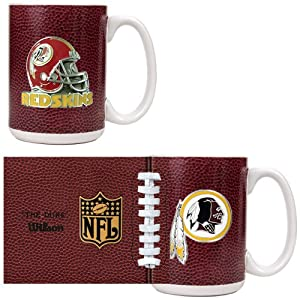 Washington Redskins Nfl 2Pc Gameball Coffee Mug Set - Primary Logo & Helmet Logo