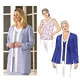 Kwik Sew Jackets & Sleeveless V-Neck Top Plus Size Pattern By The Each