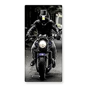 Delighted Rider Bike Multicolor Back Case Cover for Micromax Canvas Xpress A99