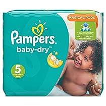 Pampers Baby Dry Windeln, Gr.5 (Junior) 11-23kg, Monatsbox, 144 Stück  Von Pampers
