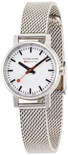 Mondaine A658.30301.11SBV - Reloj de mujer de cuarzo, correa de acero inoxidable color plata