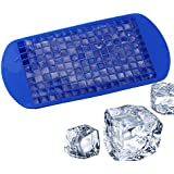 KARP™ Silicone Flexible Silicone Mini Square 160 Cavities Ice Cube Tray Maker Mold With Lid Perfect Ice Spheres...