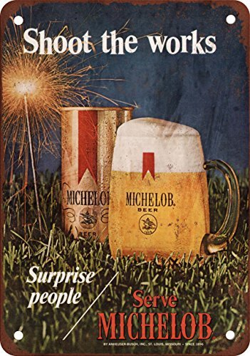 metall-poster-1971-michelob-beer-und-feuerwerk-vintage-look-reproduktion-wandschild-aus-metall