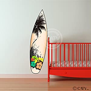 surfboard vinyl lettering decal home decor
