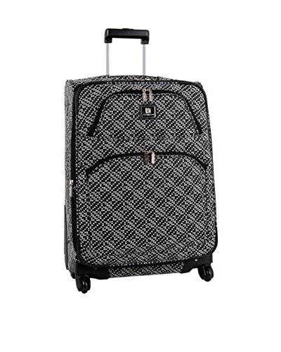 Anne Klein Going Places 24 Inch Expandable Spinner, Black/White