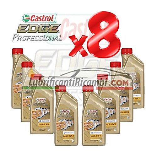8-L-Litro-olio-motore-CASTROL-EDGE-FST-LONGLIFE-III-5W30-in-latte-da-Singolo-Litro-1-Bomboletta-Shell-Advance-Helmet-Visor-Spray-Pulitore-casco-Finestrini-auto-piastrelle-specchi-e-vetri-casa