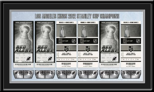 2012 NHL Stanley Cup Final Tickets to History Framed Print - Los Angeles Kings Champions