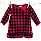 Red and Black Plaid Girls Nightgown