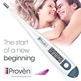 Basal Body Thermometer - BBT-113A2 by iProvèn - ACCURATE 1/100th Degree, Highly SENSITIVE, Perfect Companion for OVULATION CALCULATOR. (Fahrenheit)