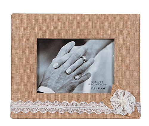 C.R. Gibson Tabletop Photo Frame, 5 by 7-Inch, Moments