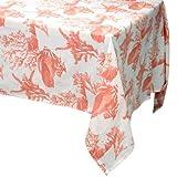 "Raymond Waites Premium Quality Table Cloth, Table linen 60""x 102"" Orange Floral"