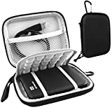 Lacdo(TM) Waterproof Hard EVA Shockproof Carrying Case Pouch Bag for Western Digital WD My Passport Studio Ultra Slim Essential WD Elements SE Portable 500GB 1TB 2TB USB 3.0 Portabl 2.5 inch External Hard Drive with Auto Backup