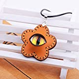 Snowman Lee Star Flower Eye of Beauty Fine Stitching Handmade Leather Pendant Necklace
