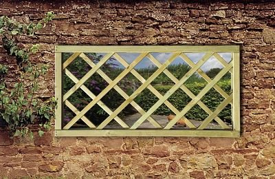 Grange Fencing Ltd Garden Mirror Lattice Window