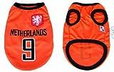 【 全3サイズ 】( 2014 ブラジル ワールドカップ ) 犬用 ユニフォーム ベスト メッシュ 生地 オランダ (M)
