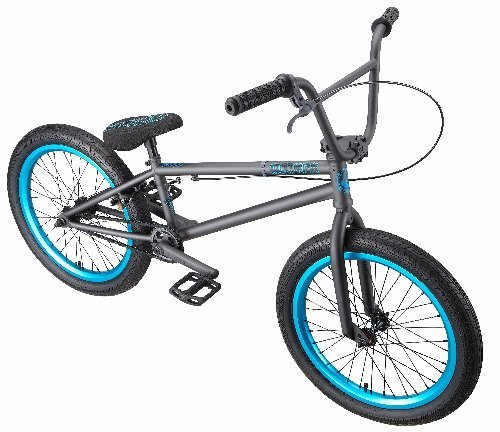 Eastern Bikes Mothra BMX Bike (Matte Graphite Black with Blue, 20-Inch)