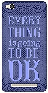 The Racoon Lean Be OK Blue hard plastic printed back case / cover for Xiaomi Redmi 3