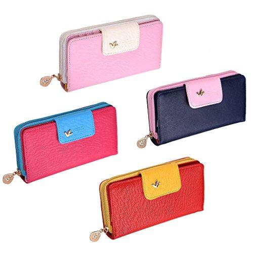 WIDEN ELECTRIC Adatti a signora della frizione delle donne lungo della borsa del portafoglio in pelle titolare della carta sacchetti della borsa