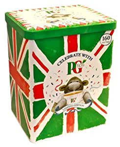 PG Tips Limited Edition Tin with 160 Pyramid Teabags for 2012 Queen Elizabeth Diamond Jubilee