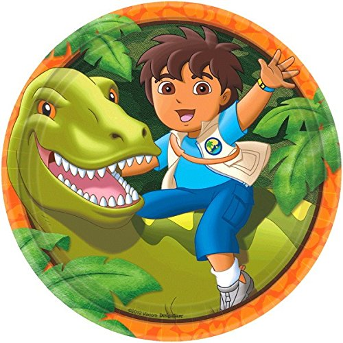 "Amscan Diego's Biggest Rescue Birthday Party Round Lunch Plates, 9"", Multi - 1"