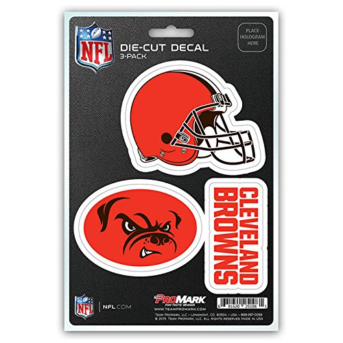 NFL Cleveland Browns Team Decal - Pack of 3, Orange, Standard (Cleveland Browns Auto Decal compare prices)