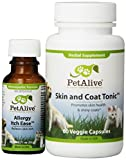 PetAlive Allergy Itch Ease and Skin & Coat Tonic ComboPack