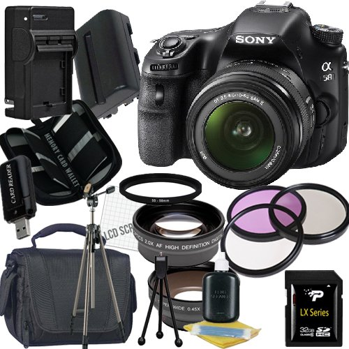 Sony Alpha SLT-A58K SLT-A58 DSLR Digital Camera with 18-55mm Lens 32GB Package 2 best price