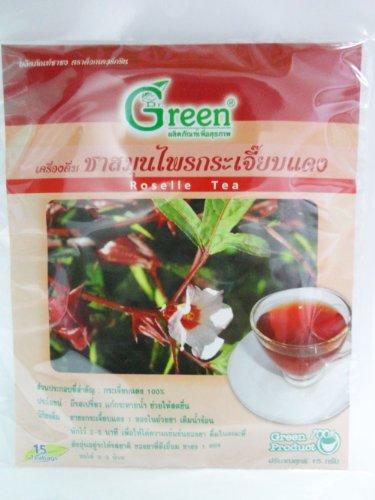 Dr. Green Brand Roselle Tea 15G (15 Tea Bags) 1Pack Thai