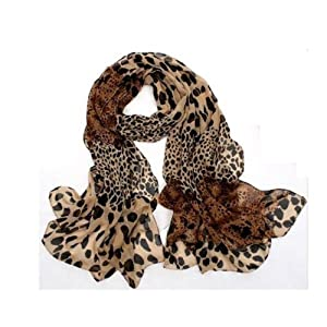 Women Fashion Long Soft Wrap Lady Shawl Leopard Chiffon Long Scarf Scarves Stole