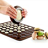 Foxnovo® 30-circle Soft Silicone Macaron Macaroon Baking Sheet Mat DIY Muffin Chocolate Cookie Mould (Chocolate)