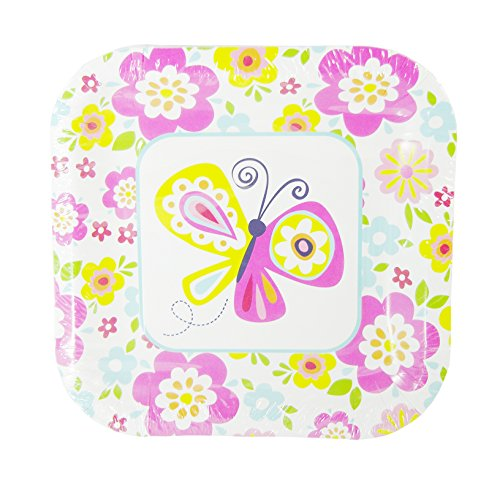 Spring Fling Party! Butterfly Paper Plates - 14 Pieces