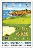 Signed 2010 U.S. Open Pebble Beach Mini-Poster by Lee Wybranski
