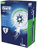 Oral-B Pro 4000 CrossAction Electric Rechargeable Toothbrush Powered by Braun