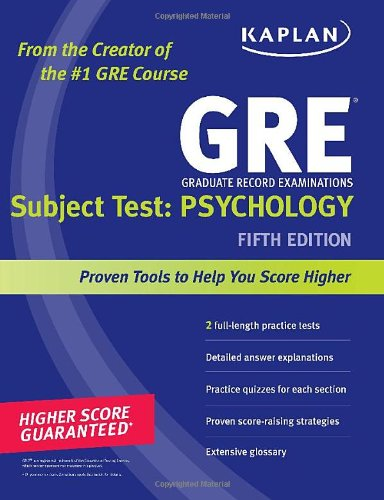 Gre Subject Test: Psychology, 5Th Edition front-301259