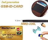 Spy-Gadget-GSM-Wanze-kabelloses-Abhrgert-getarnt-als-ID-Karte-mit-Bluetooth-inkl-Ohrstecker