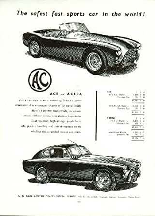the safest fast sports car in the world a c ace aceca ad 1956 entertainment. Black Bedroom Furniture Sets. Home Design Ideas