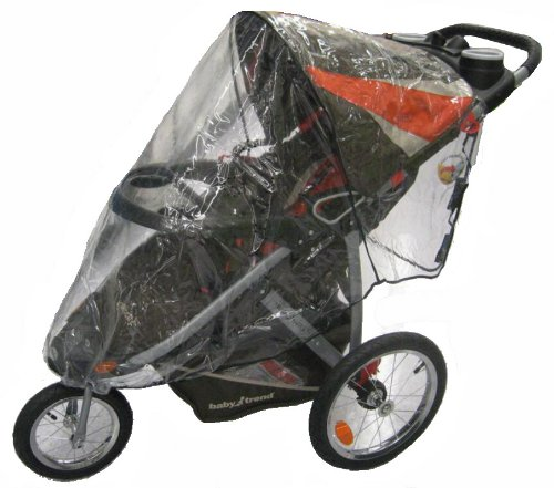 Sashas Rain and Wind Cover for Baby Trend Single Front Swivel Wheel Expedition ELX and Velocity Stroller