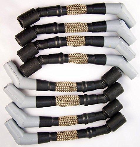 LS Engine 10mm Titanium High Heat Performance Spark Plug Ignition Wires Set (Abc Auto Parts compare prices)