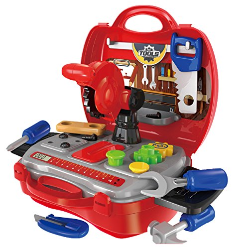Awardpedia - Durable Kids Tool Set, with Electronic Cordless Drill