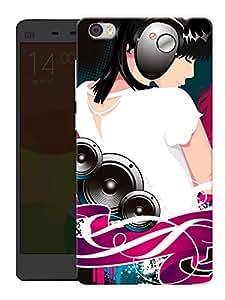 "Humor Gang Girl Headphones Music Printed Designer Mobile Back Cover For ""Xiaomi Redmi Mi5"" (3D, Matte, Premium Quality Snap On Case)"