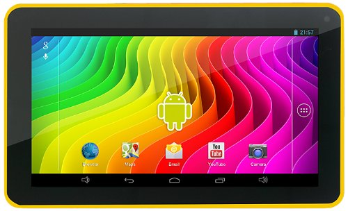 Easypix SmartPad EP772 NEO Lemon 17,7 cm (7 Zoll) Tablet-PC (Rockchip RK3168 Cortex A9, DualCore, 1,2GHz, 1GB RAM, 8GB HDD, SGX 540 GPU, Android Touchscreen OS) gelb