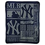 MLB New York Yankees Strength Printed Fleece Throw, 50-inch by 60-inch