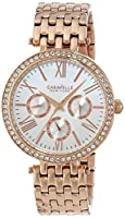 Caravelle New York Women's 44N101 Analog Rose Gold Dress Watch