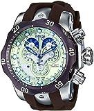 Invicta Venom Men's Quartz Watch with Beige Dial  Chronograph display on Brown Silicone Strap 14461