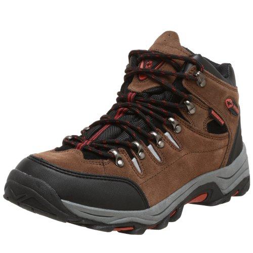 Nevados Men's V1127 Waterproof Hiking Boot,Medium Brown/Black/Red,7.5 M